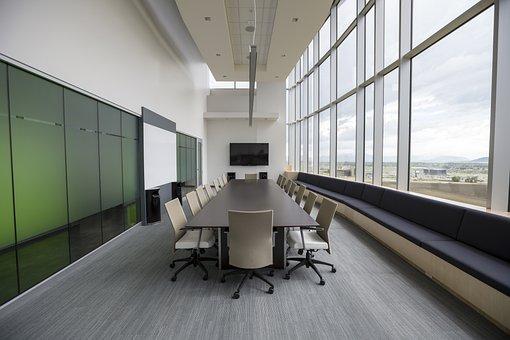 Chaises, Salle de Conférence, Longue Table