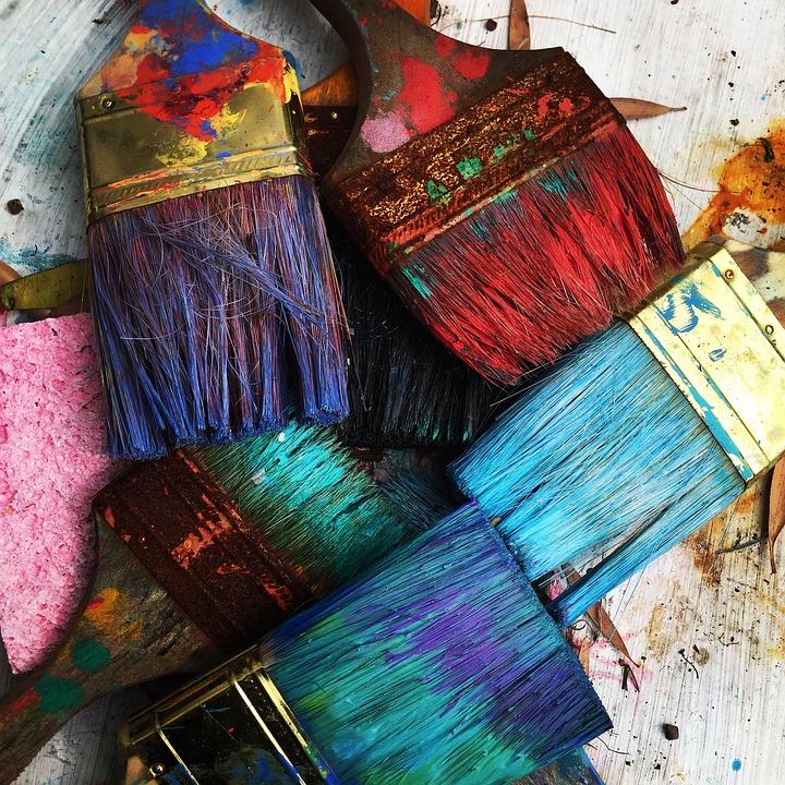 Art, Brosses, Coloré, Peinture, Pinceaux, Artiste