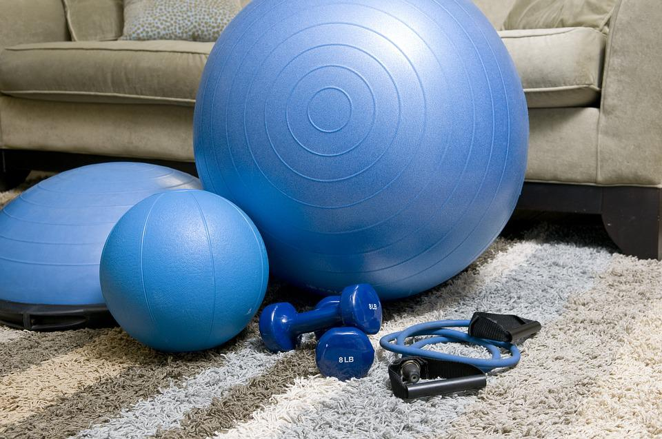 Home Fitness Equipment, Blue Fitness Equipment