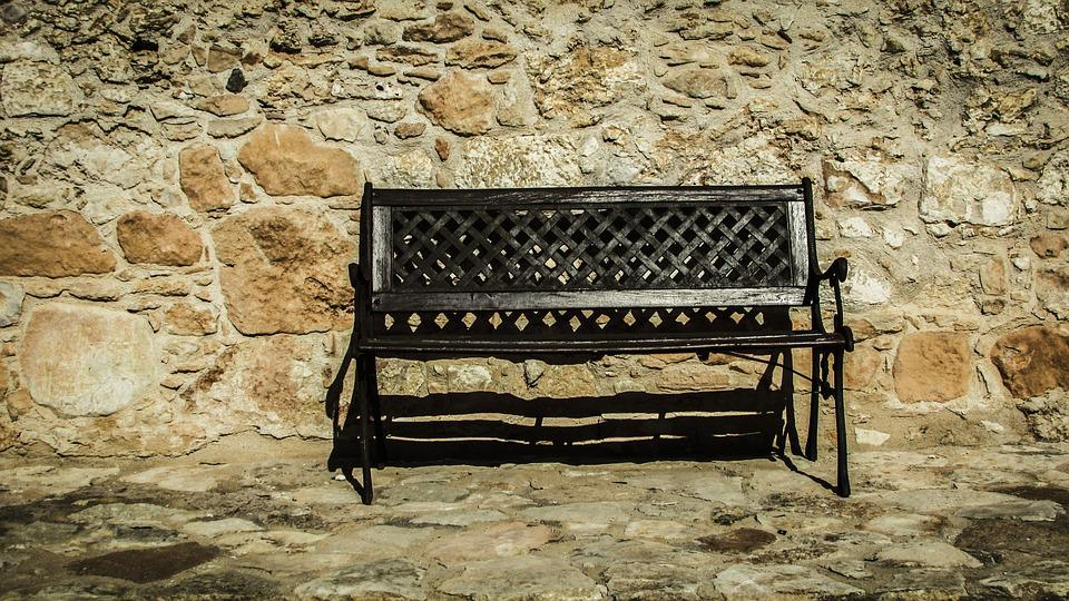 Strange Bench Wooden Wall Stone Free Photo On Pixabay Onthecornerstone Fun Painted Chair Ideas Images Onthecornerstoneorg