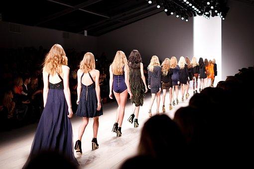 キャットウォーク, モデル, 女性, ファッション, ファッションショー