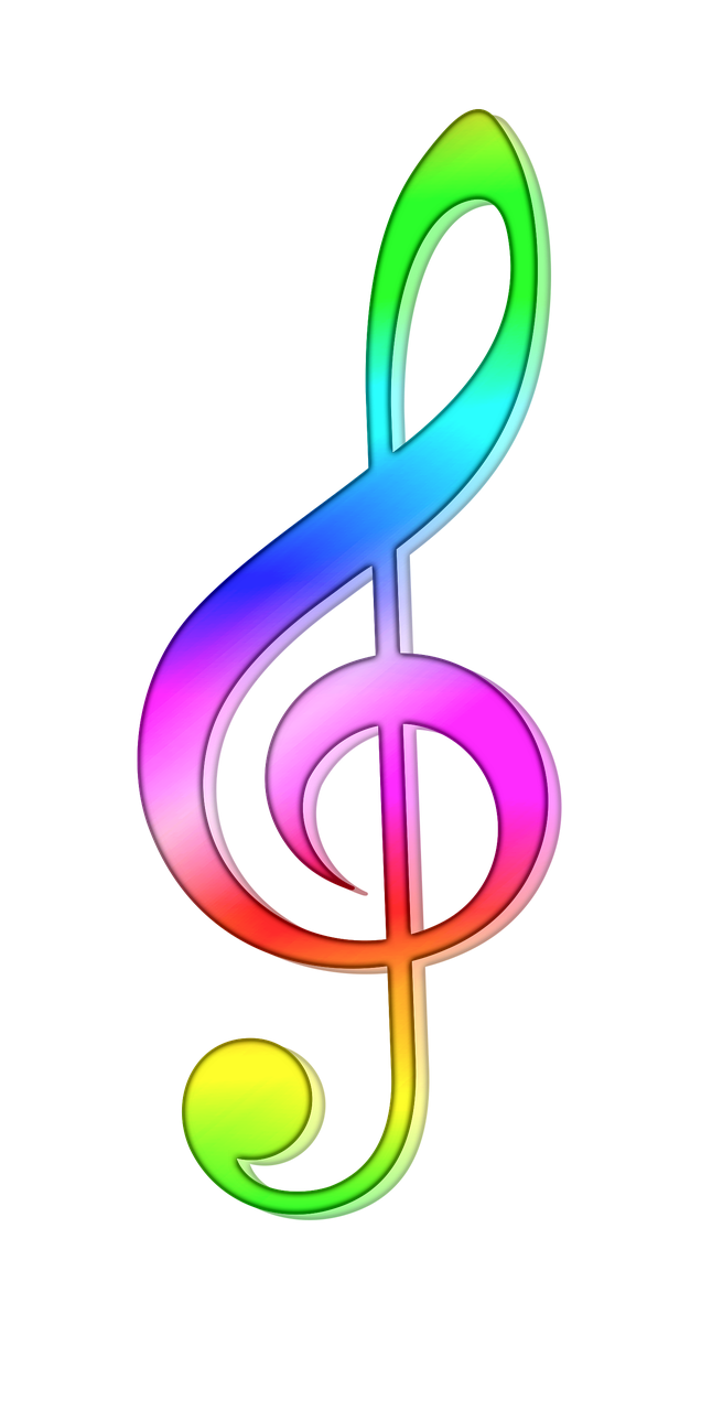 Открытка скрипичный ключ