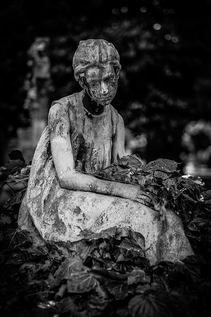 Black White Cemetery Girl  Free Photo On Pixabay-4078