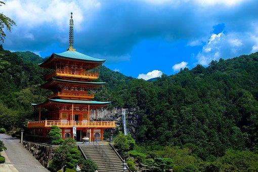 Temple, Japan, Japanese, Pagoda