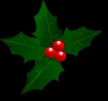 Mail, Weihnachten, Stechpalme