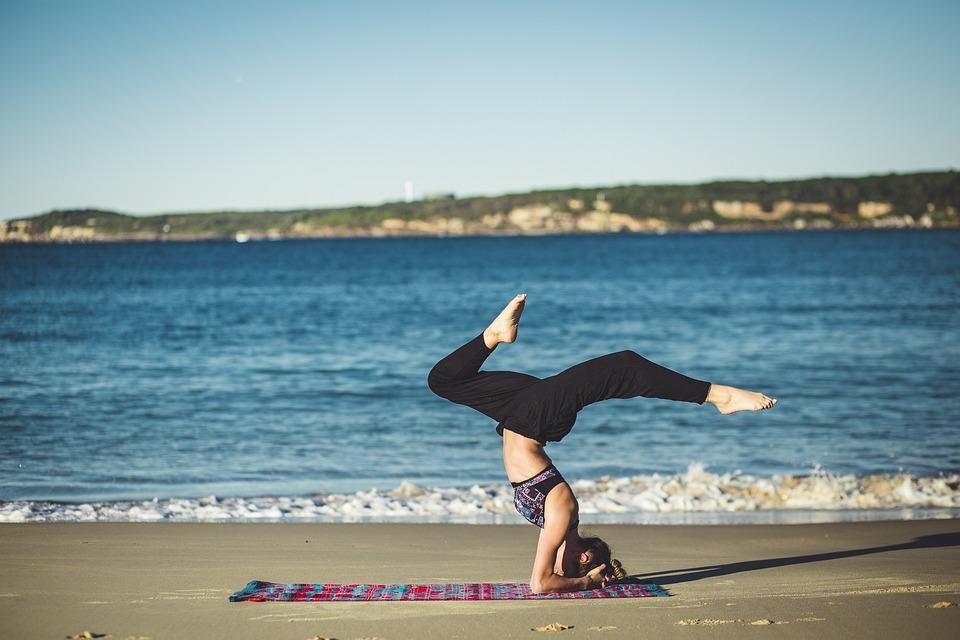 Йога, Баланс, Дзэн, Пляж, Океан, Медитация, Лица, Песок