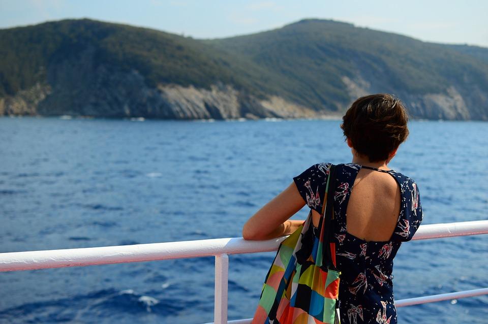 女の子, 思考, 夢, 戻る, 欲しいです, 海, エルバ島, エルベ川, トスカーナ, 休日, 訪問, 観光