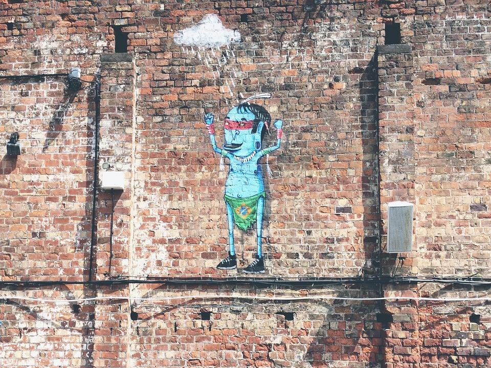 Brick Wall Art free photo: art, brick wall, graffiti - free image on pixabay