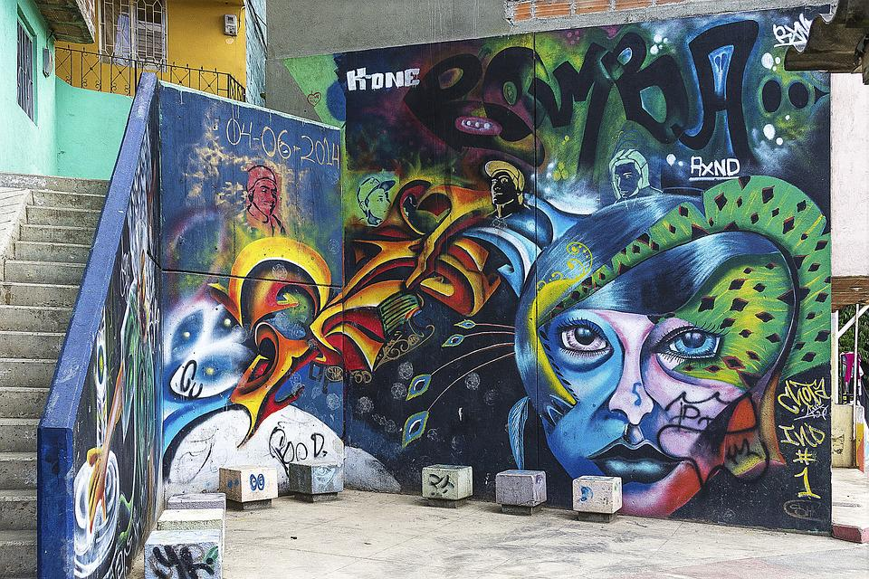 Background, Graffiti, Grunge, Street Art, Graffiti Wall