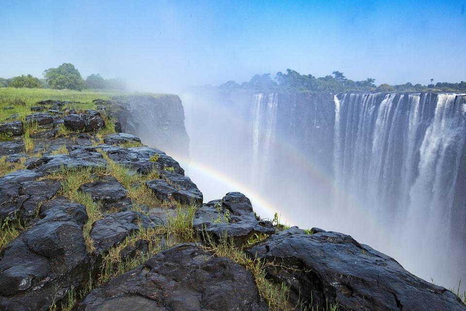 Tęcza, Podwójne, Wodospad, Wodospady Wiktorii, Natura