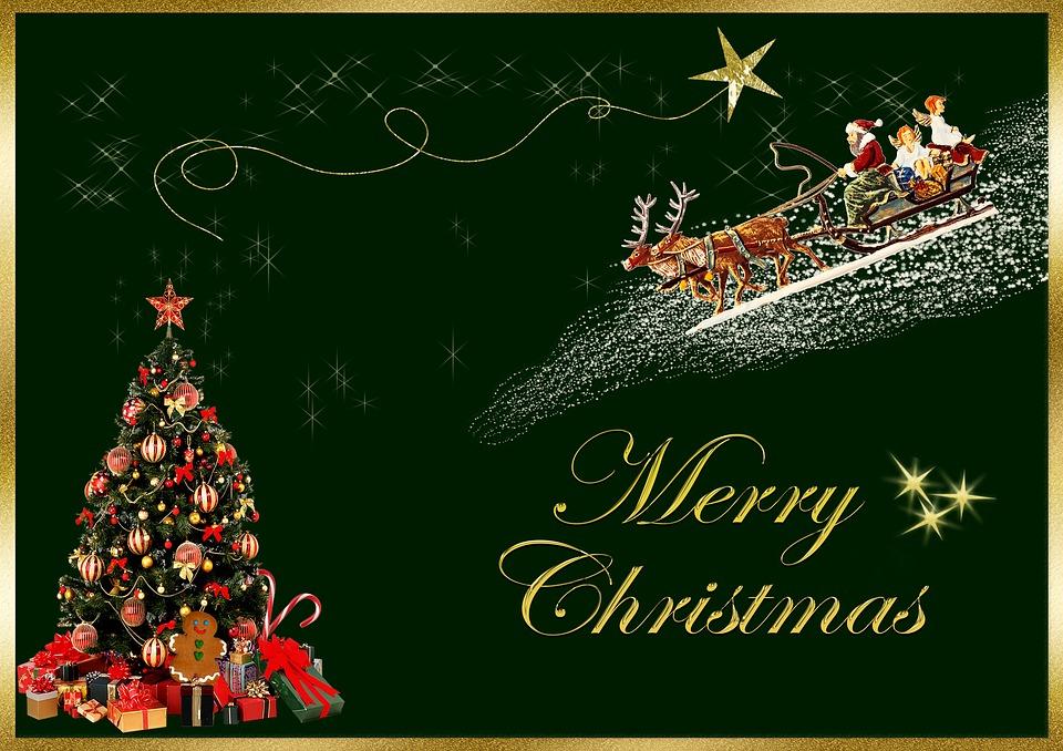 Weihnachtskarte Merry Christmas · Kostenloses Bild auf Pixabay
