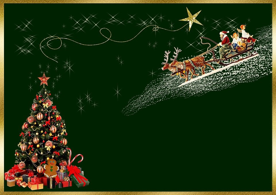 christmas card background image