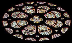 ウィンドウ 教会の窓 カラフル ステンド グラス アーキテクチャ 窓からす 反射 ピュイ ド ô