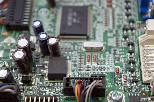 Chip, Printed Circuit Board, Capacitors