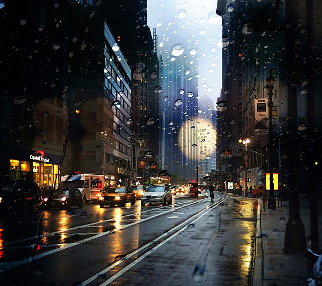 New York Rain Street 183 Free Photo On Pixabay