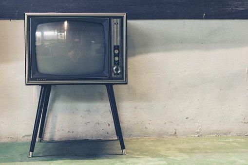 テレビ, レトロ, 古典的な, 古い, アンティーク