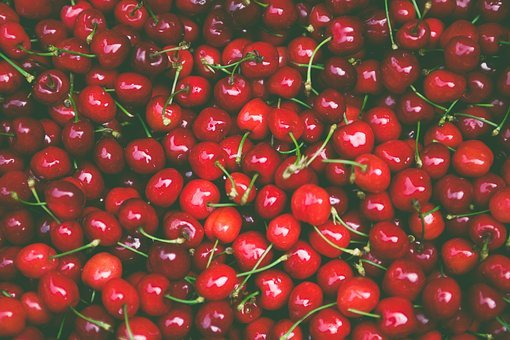 Cherries, Food, Fresh, Fruits, Red