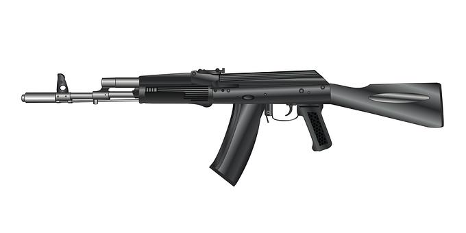 Gun, Machine Gun, Кalashnikov
