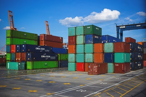 Port, Pier, Cargo Containers, Crate