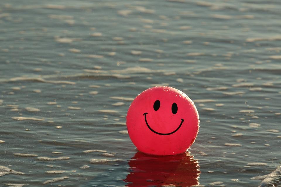ボール, ビーチ, 幸せ, 海, ピンク, 笑顔, スマイリー, グレイビーチ, グレーに嬉しい, グレーの海