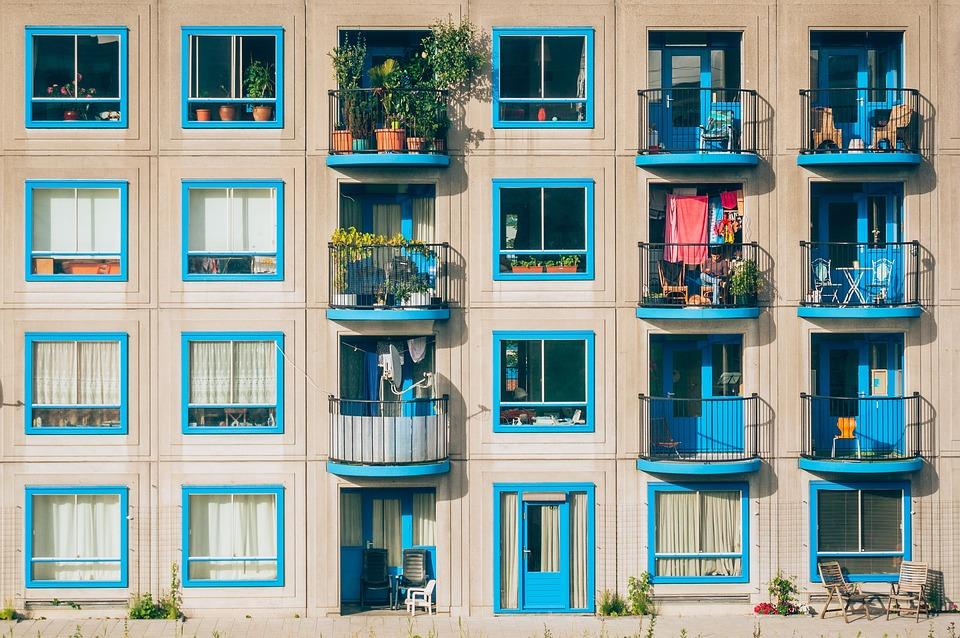 Appartements, L'Architecture, Balcons, Bâtiment, Façade
