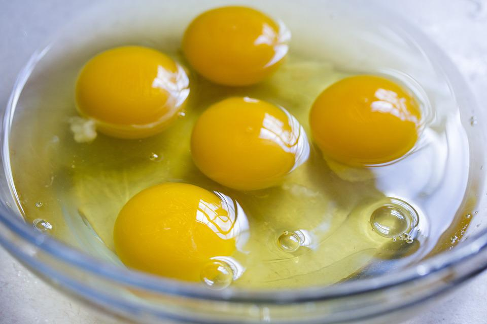 Baking, Eggs, Raw Eggs, Yolks