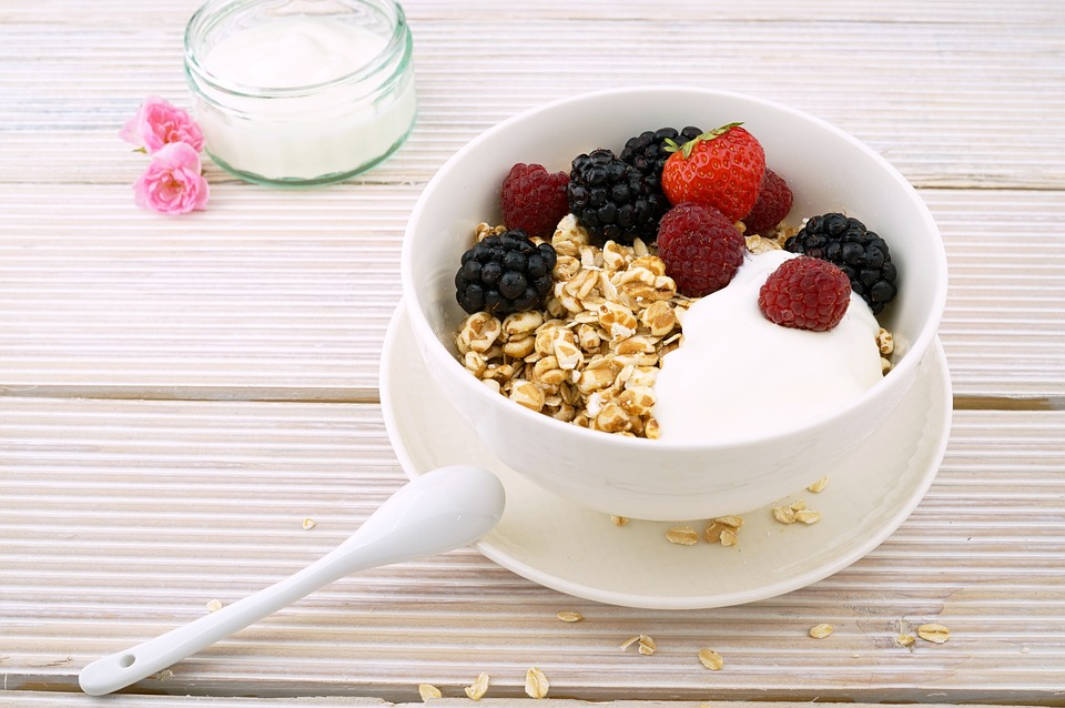 Berries, Muesli, Blackberries, Bowl, Breakfast, Brunch