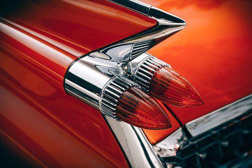 Car, Classic, Close-Up, Design, Lights