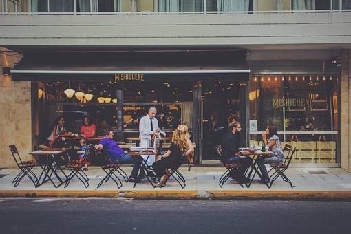 Outdoor Dining, Restaurant, Bar, Waiter