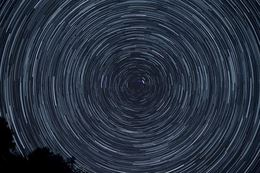 Night, Stars, Rotation, Starry Sky