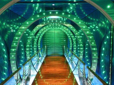 Led-Lighting, Gang, Led Lamp, Tunnel