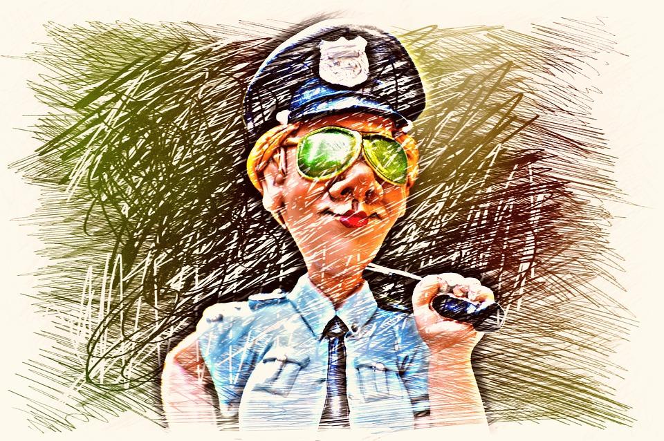 Kadin Polis Cizim Pixabay De Ucretsiz Resim