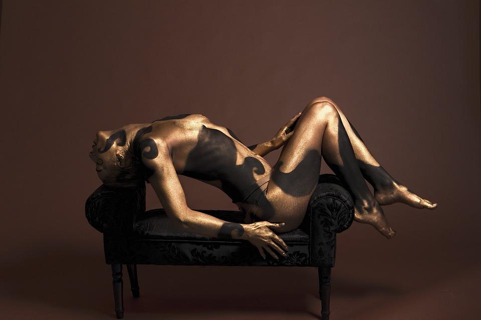 Naken kropp färg modeller