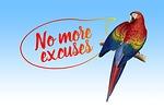 excuse me, balloon, parrot