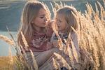 rodzina, mama i córka, kochanie