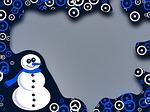 christmas, border, frame
