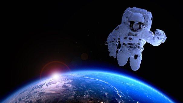 Astronaut, Astronomy, Satellite, Moon