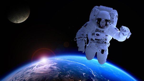 Astronaut Astronomy Satellite Moon Forward