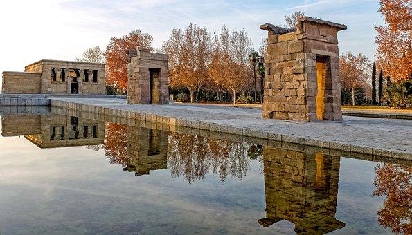 Espaa Madrid Templo Debod Amon