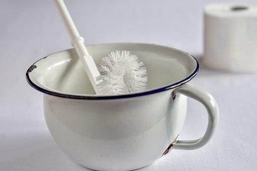 チャンバー ポット, 洗面所のブラシ, 衛生, エナメル質, 白, シート