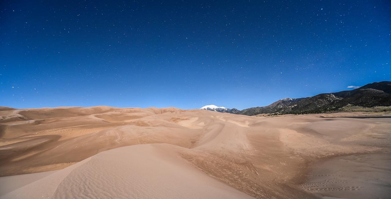 пустыня и небо фотобанк чисткой пляжа