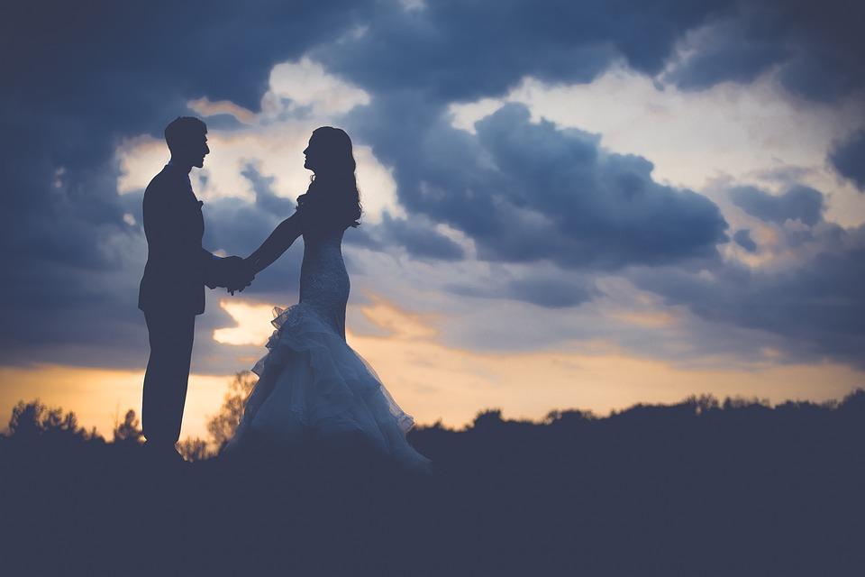 Couple, Wedding, Dawn, Dusk, Love, Man, Outdoors