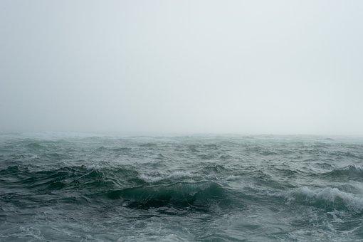 Hav, Tåge, Ocean, Bølger, Havets Bølger