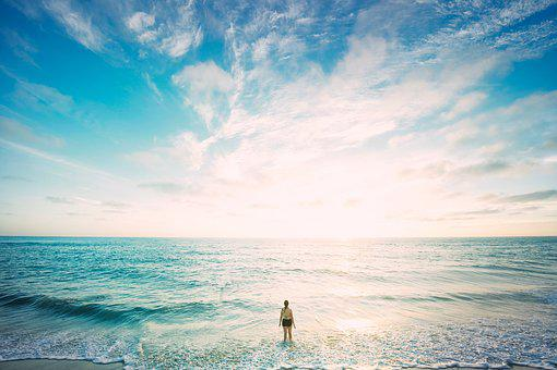 Praia, Horizonte, Natureza, Oceano