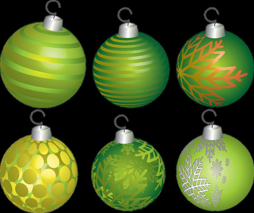 Christmas Holiday Ball Decoration Ornament Green
