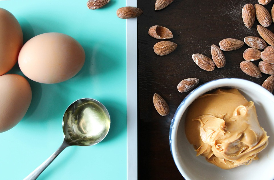 Almond, Blue, Cook, Cooking, Egg, Fat, Food