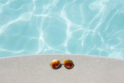 Sonnenbrillen, Schwimmbad, Erholung