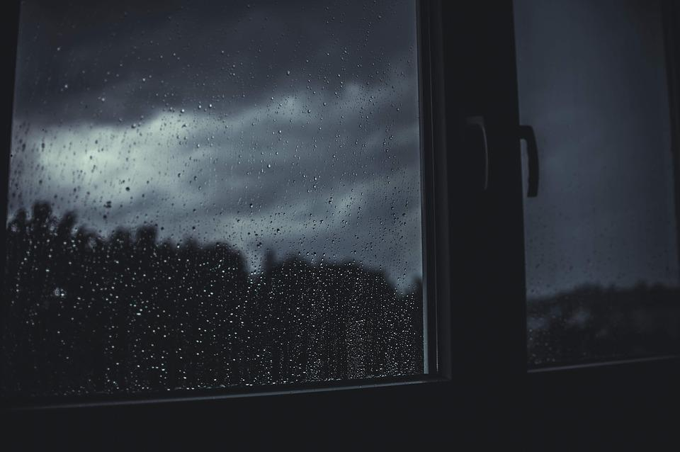 Dark, Rain, Raindrops, Wet, Window, Gloomy