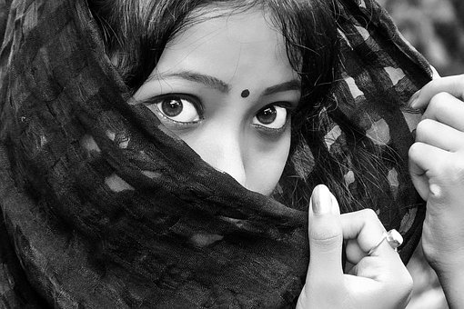 Black, Eyes, Girl, India, Indian, Lady
