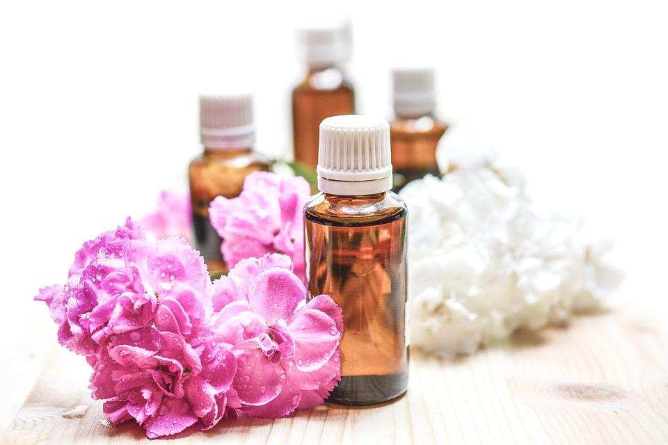 エッセンシャルオイル, 代替, 香り, 芳香族, 体, ボトル, ケア, 花, 健康, ハーブの, 液体